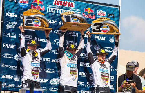 Star Racing Yamaha Riders Sweep Podium at Glen Helen